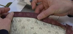 Bind a quilt without bumps