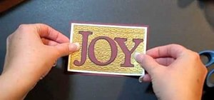 "Craft a simple ""Joy"" Christmas card using Cricut"