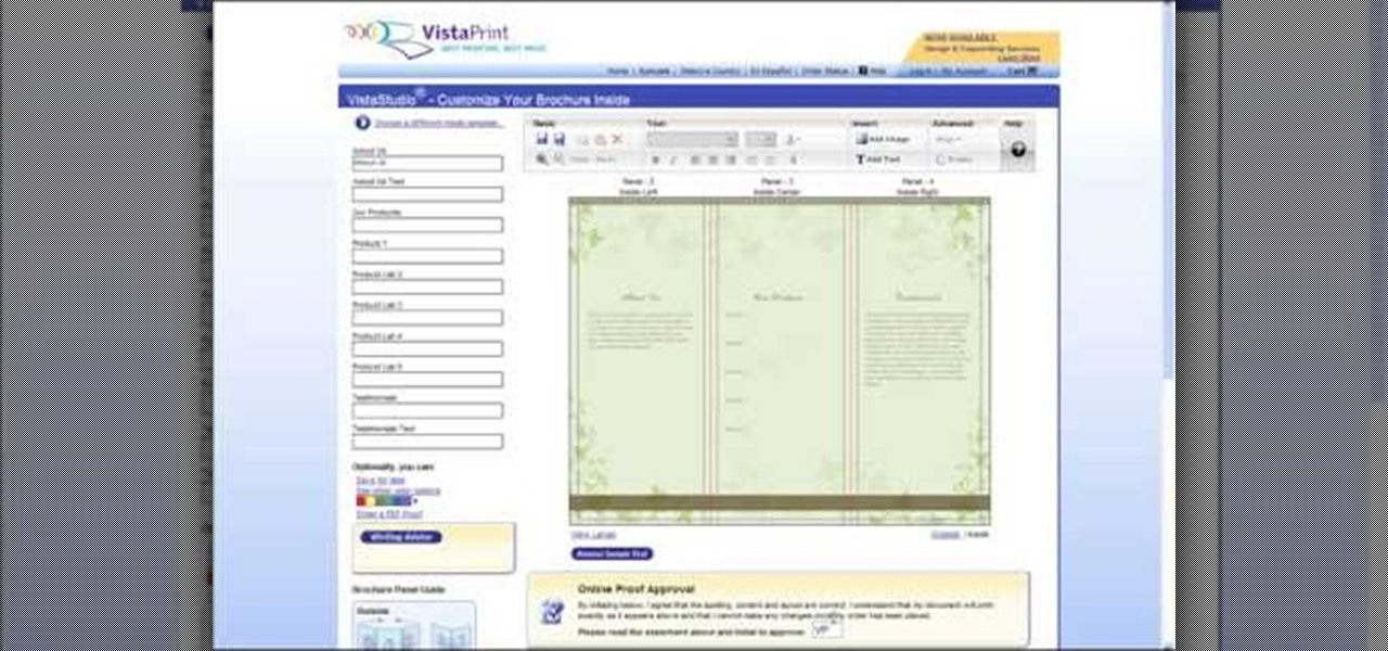 How To Create A Brochure Using Vistaprint « Software Tips