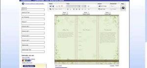 Create a brochure using VistaPrint