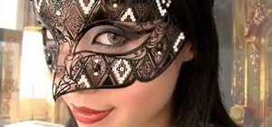 Create a bewitching, elegant masquerade makeup look for Halloween