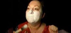 Apply a Halloween skull make up mask