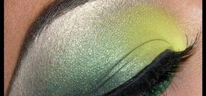 Apply a bright and dark green MAC eye makeup look