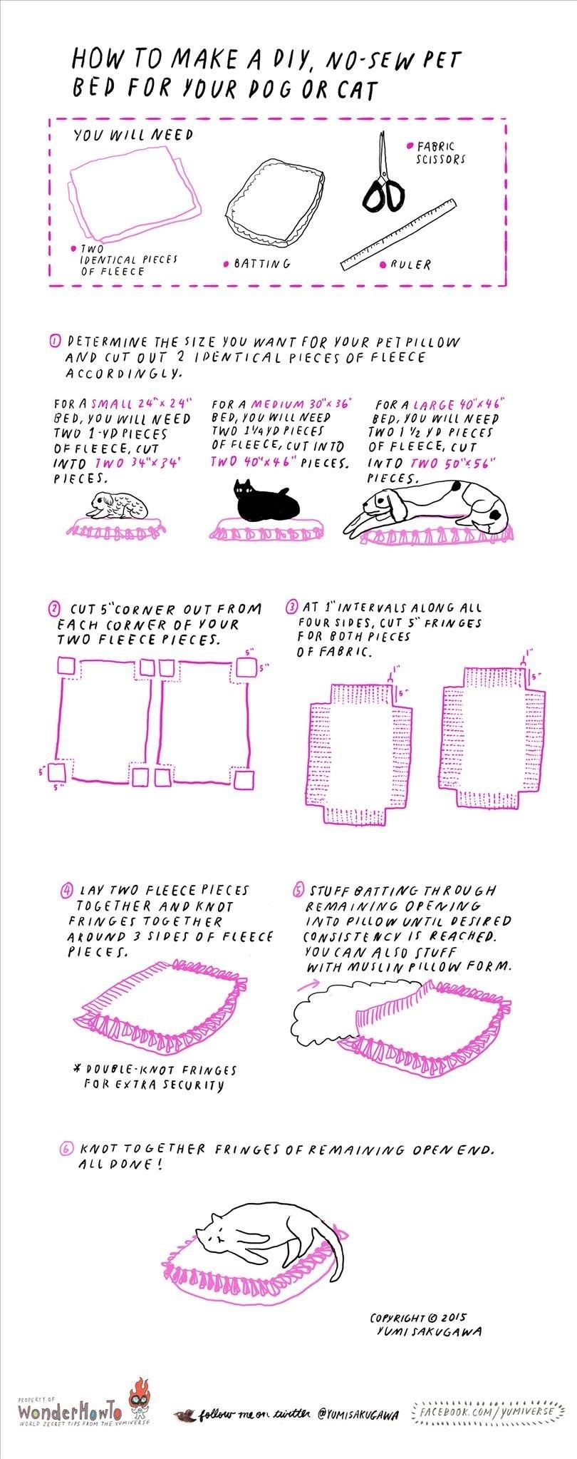 How to Make an Easy No-Sew Pet Bed for Your Cat or Dog