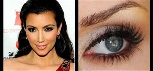 Get Kim Kardashian's signature bronze smokey eyes