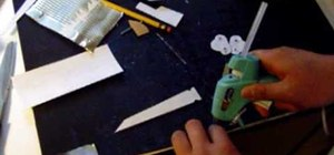 Make a homemade paper butterfly knife