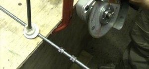 How To Cut A Threaded Metal Rod Or Bar To Get A Nut Onto