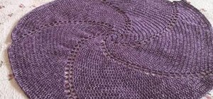 Crochet a large purple swirled Afghan
