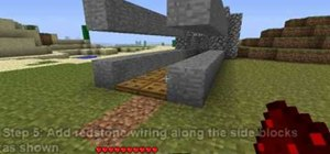 Build a drawbridge in Minecraft