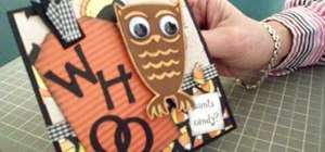 Make an owl Halloween card using Cricut Storybook