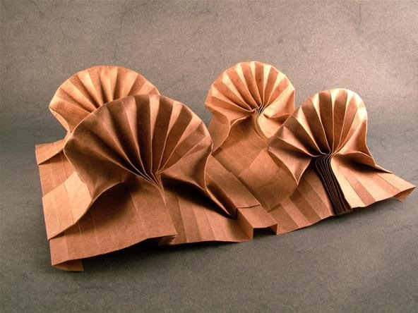 Math Craft Inspiration of the Week: The Origami Tessellations of Eric Gjerde