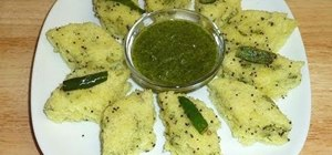 Cook Indian dhokla with Manjula