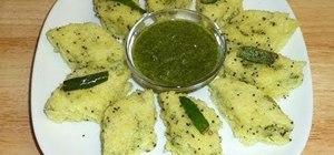 Cook Indian dhokla with Manjula