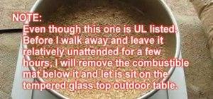 Make a sawdust smoke generator using a hot plate