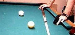 Aim a shot and establish a pre-shot routine in pool