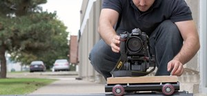 Build a DIY wooden camera dolly with PVC railing system