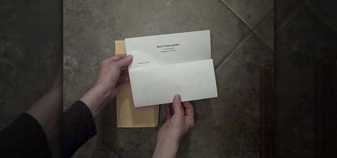 How To Properly Fold A Letter And Place It Into An Envelope Jobs Resumes WonderHowTo