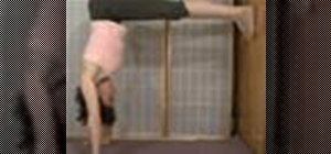 Do a yoga L shape handstand