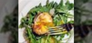 Make a simple appetizer out of butter poached asparagus and fried egg