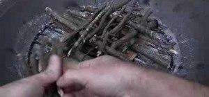 Build a log cabin fire