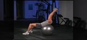 Do medicine ball situps on a stability ball