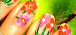 Paint pretty spring flowers on your nails