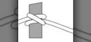 Tie the clove hitch knot for boating