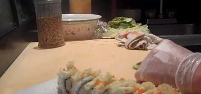 how to make crunchy roll sushi