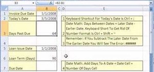 Do date calculations in Microsoft Excel