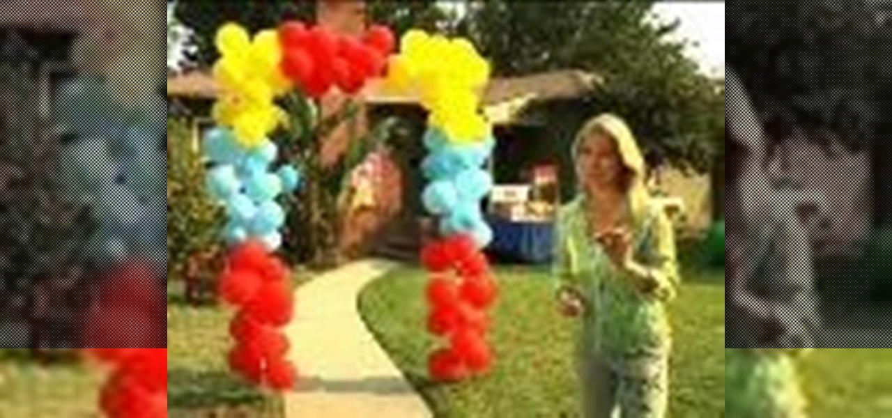 Birthdays birthday party birthdays wonderhowto for How to build a balloon arch