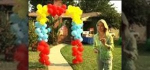 Make a balloon arch for your kid's circus birthday