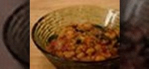 Make vegan Moroccan chickpea stew