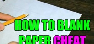 Cheat with a blank piece of paper