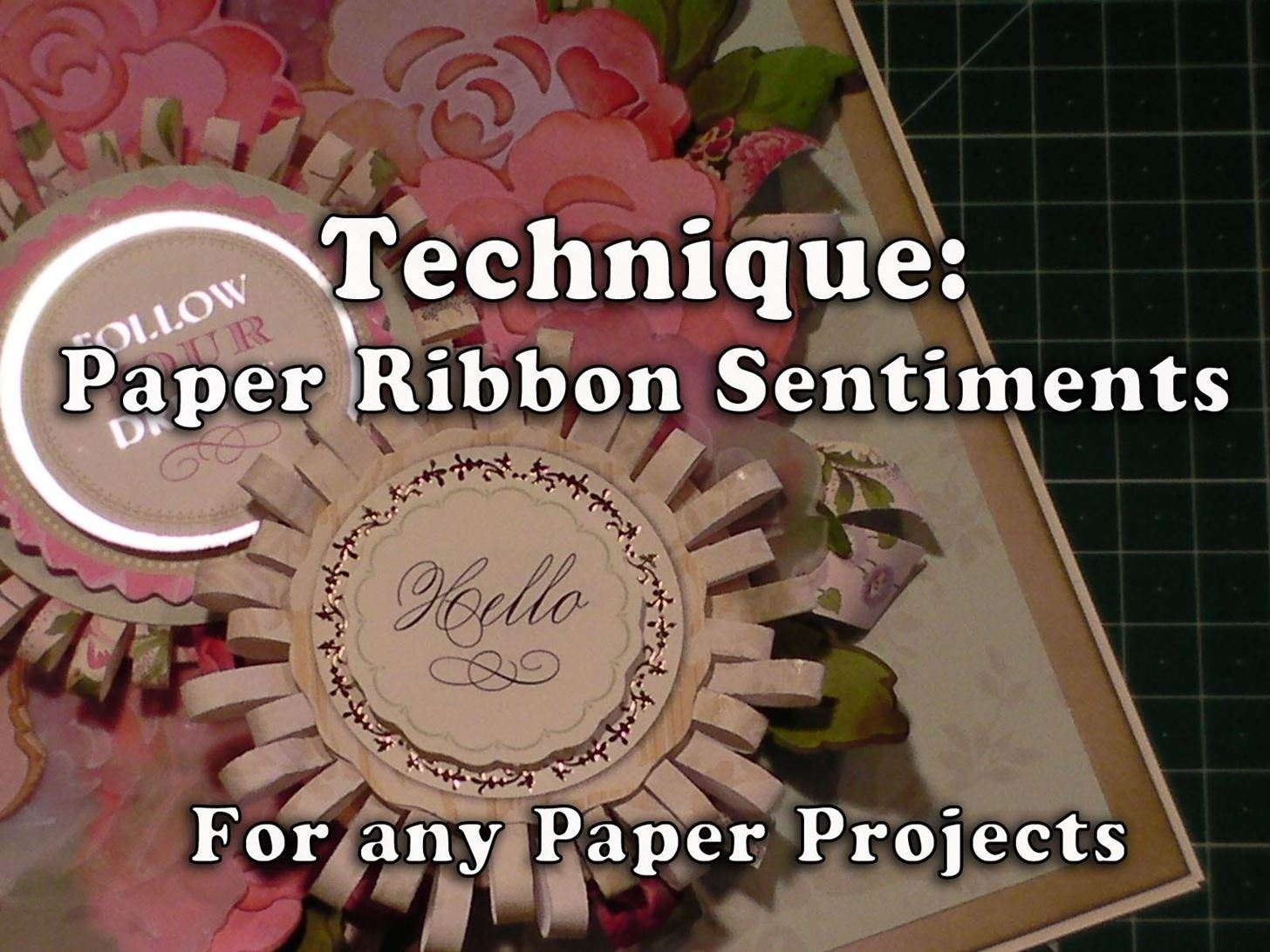 How to Make Pretty Paper Ribbon Sentiments