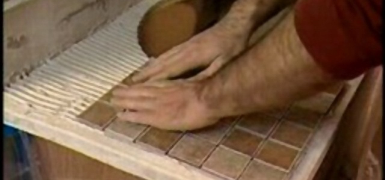 How To Install Mosaic Tiles In Your Bathroom Vanity « Construction U0026 Repair  :: WonderHowTo