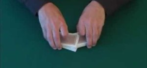 Riffle shuffle a deck of playing cards for poker