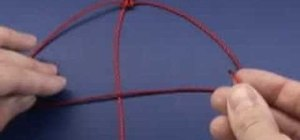 Tie a basic square or granny knot in macrame projects