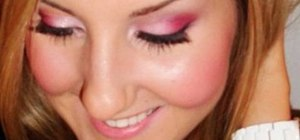 Create a flirty, pink makeup look for Valentines Day