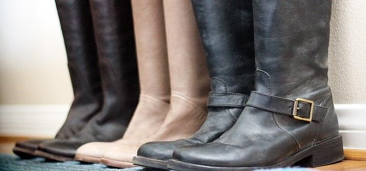 Keep Tall Boots from Slouching (And Organize Your Closet Chaos)