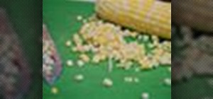Remove corn kernels from the cobb easily