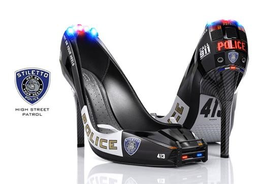 LED Embedded Cop Heels