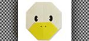 Origami a duck face Japanese style