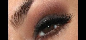 Create a bronzy smokey eye a la Kim Kardashian/Victoria's Secret