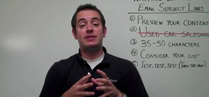Write an effective subject line for small online business email marketing
