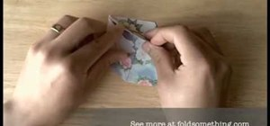 Fold a traditional origami paper star box