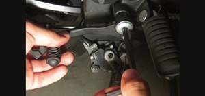 Change your shifter lever and tie rod on a motorcycle