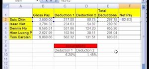 Use Excel formulas with cell references