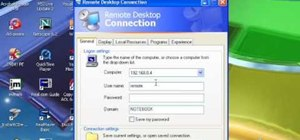 Establish a Remote Desktop connection in Windows XP