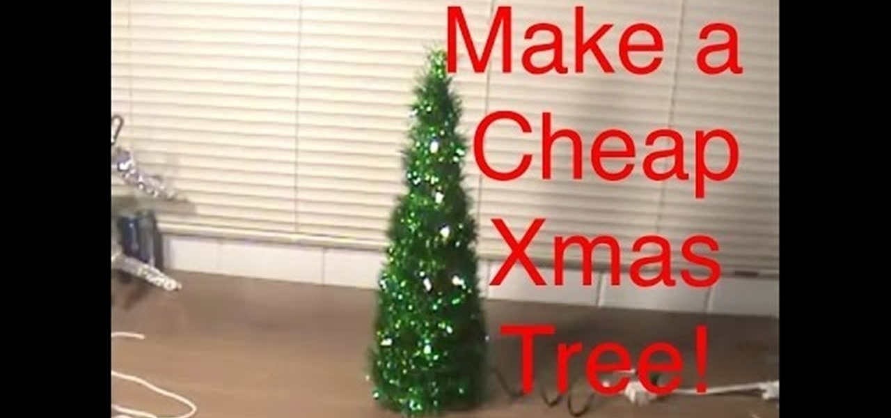 how to make a cheap desk christmas tree